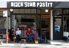 """Black Star Pastry"" - 277 Australia Street, Newtown. www.blackstarpastry.com.au - 7:00 am - 5:00 pm"