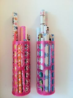 great storage for wrapping paper on the back of the door? Home Organisation, Storage Organization, Organization Ideas, Girl Cave, Ideas Para Organizar, Living Room Mirrors, Teen Room Decor, Family Organizer, Garage