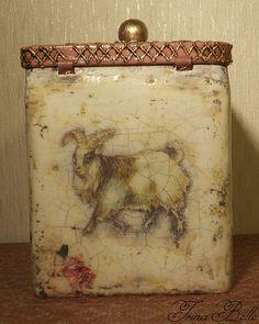 """Купить Баночка для хранения """"Деревенская фауна"""", продано - баночка для чая, декоративная баночка, подарок для кухни"""