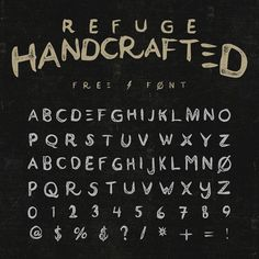 Refuge is a handcrafted typeface that suits any vintage style design. Perfect for hand-lettering projects, t-shirts, logos, etc. Enjoy!  License: Free for commercial/personal use.
