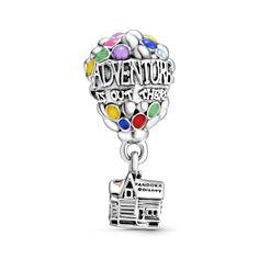 "Намистина ""Вперед і вгору"" Pandora Disney - 2 Charm Pandora Disney, Disney Up House, Pandora Bracelet Charms, Charm Bracelets, New Charmed, Balloons, Dangles, Sterling Silver, Beads"