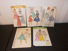 Inventory 38 Lot of 5 Vintage Patterns Girls Size 8