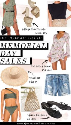 Memorial Day Sales List!