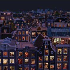 #Amsterdam #PierPaoloRovero Audrey Kawasaki, Robert Mcginnis, Transformers Art, Graphic Design Illustration, Watercolor Illustration, Art Pulp Fiction, 8bit Art, Amsterdam City, Pictures To Paint
