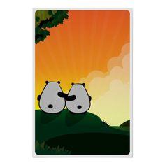 Panda Sunset Print