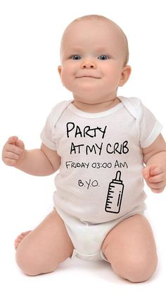 Bekijk dit items in mijn Etsy shop https://www.etsy.com/nl/listing/509246716/party-at-my-crib-baby-romper-funny-baby
