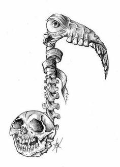 30 Beautiful Tattoo Ideas - Page 18 of 27 - Tattoo Designs 27 Tattoo, Note Tattoo, Death Tattoo, Tattoo Sketches, Tattoo Drawings, Art Sketches, Chicano Drawings, Music Tattoo Designs, Music Tattoos