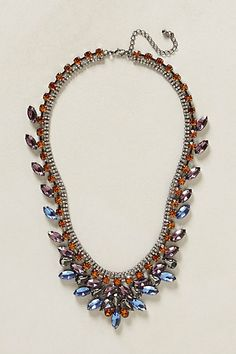 Sapphire Flames Necklace #anthropologie