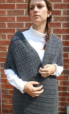 Shawl Crocheted Prayer Shawl Cobalt Grey Bamboo Angora