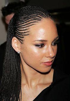 Braided Hairstyles Updo, Alicia Keys Hairstyles, African American Braided Hairstyles, African American Braids, Braids Hairstyles Pictures, African Braids Hairstyles, Cornrows Updo, Sisterlocks, Hairstyles Haircuts