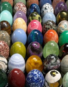 A collection of 850 mineral eggs carved in the renowned gem-cutting center of Idar-Oberstein, Germany.   . . . .   ღTrish W ~ http://www.pinterest.com/trishw/  . . . .  #myt