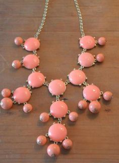 Coral Bubble Necklace on Wanelo
