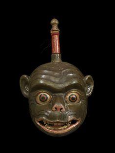Monkey Hanuman, Bhutan, c. 18th–19th century. Wood and pigment. Bruce Miller Collection, 127.