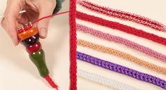 Comment utiliser un tricotin ? tutoriel et video Spool Knitting, Knitting Stitches, Quilling Art, Security Blanket, Vintage Diy, Small Bags, Dream Catcher, Crochet Necklace, Blog