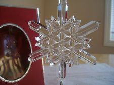 WATERFORD CRYSTAL RARE 2004 SNOW CRYSTALS ORNAMENT