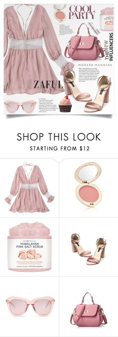 """""""Zaful 60"""" by lillili25 ❤ liked on Polyvore featuring Jane Iredale, Karen Walker, Estée Lauder, polyvoreeditorial, polyvoreditorial and zaful"""