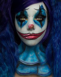 Here's a close up look of my clown makeup, video is on YouTube ☺️ #clown #funmakeup #creativemakeup #halloweenmakeup #halloweenmakeupideas #clownmakeup Circus Makeup, Clown Makeup, Cute Clown, Creepy Clown, Halloween Circus, Halloween Looks, Creepy Makeup, Cute Makeup, Ethereal Makeup