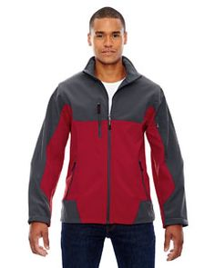 Shop for Compass Colorblock Three-Layer Fleece Bonded Soft Shell Men's Molten Red 751 Jacket. Get free delivery On EVERYTHING* Overstock - Your Online Men's Clothing Shop! City North, Hiking Jacket, Jackets Online, Jacket Style, Hooded Jacket, Sweatshirt, Clothes, Compass, Fleece Jackets