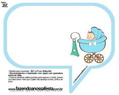 Plaquinhas Divertidas Chá de Bebê Menino 21
