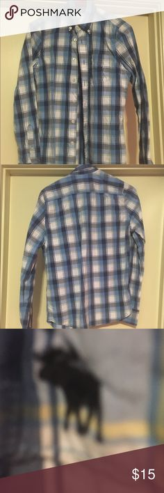 ‼️SALE‼️Abercrombie XL All BOYS CLOTHES BOGO FREE This is a nice button down shirt in blue & white plaid. Size XL FROM ABERCROMBIE . In like new shape. Abercrombie & Fitch Shirts Casual Button Down Shirts