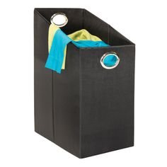 Features: -Prevent wear and tear and makes transport easy-Easy carry oval aluminum handles-Folds flat when not in use-Fits perfectly under hanging clothes or closet organizers-Hampers included-Two side handles accented by rings-Laundry collection.