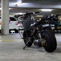 Honda ruckus with an awesome tire. Never could pull the trigger on a fat tire, but that looks perfect.