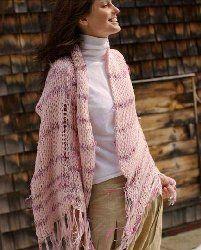 Heavenly Pink Shawl | AllFreeKnitting.com