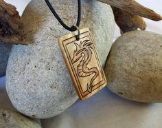 Mens Serpent Dragon Necklace Mens Dragon Pendant Mens Dragon Jewelry #mens #dragon #serpent #necklace #dragonnecklace #mensnecklace #woodnecklace