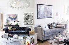 Home Decor Trend / Velvet – cocorosa Interior Decorating, Interior Design, Decorating Ideas, Chic Living Room, Dream Decor, Home Decor Trends, Living Room Designs, Sweet Home, New Homes