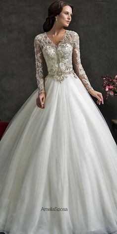 24 Chic Long Sleeved Wedding Dresses ❤ See more: http://www.weddingforward.com/long-sleeved-wedding-dresses/ #weddings #dress