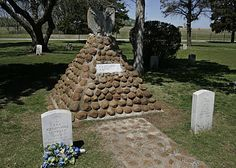 Famous and Legendary Apache Indian 'Geronimo' Gravesite Location at Fort Sill Oklahoma