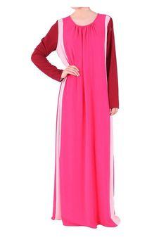 Fashion Chiffon Muslim Abaya Kaftan Clothing Plus Size Hijab Long Muslim Dress - purple, L #trending