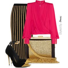 A fashion look from November 2015 featuring Balmain blouses, Balmain skirts и Balmain pumps. Browse and shop related looks.