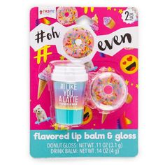 <img> All the flavors of a tasty breakfast right in your bag or pocket. Breakfast food flavored lip balm keeps your lips moisturized and taste buds happy Fun shaped containers Easy to store and take with you Balms contain ounces By Taste Squad - Chapstick Lip Balm, Lipgloss, Lip Gloss Colors, Lip Colors, Gloss Labial, Best Lipsticks, Kissable Lips, Soft Lips, Happy Fun