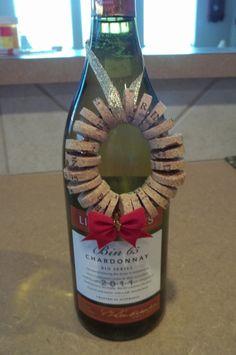 Wine Cork Wreath Ornament/Decor by CraftsbyMaryLou on Etsy, $5.00