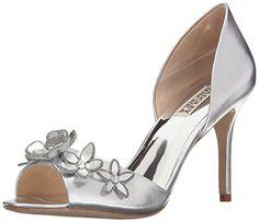 badgley  mischka  womens  larose  dress  pump  silver