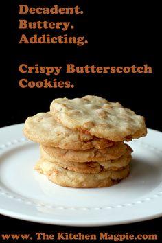 Crispy Butterscotch Cookies #cookies #recipes #food
