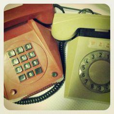 Při jarním úklidu nalézáme skvosty :o) #retro #telephone #telefon #phone #teplice
