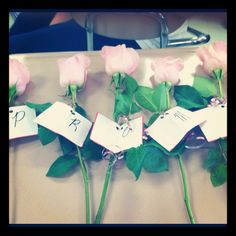 Clever Invitation to Senior Prom... A rose in each of her most visited/meaningful spots at the school