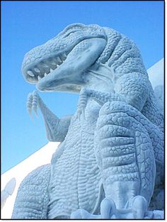 Japanese snow sculpture.  We used to go when we were kids living in Misawa.  Childhood memories.