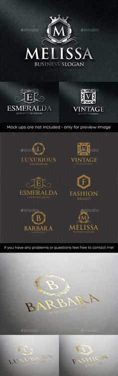 Luxurious Elegant Vintage Boutique Logos - Badges & Stickers Web Elements