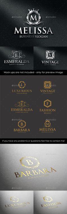 Luxurious Elegant Vintage Boutique Logos - Badges & Stickers Web Elements