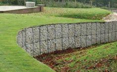 Stone gabion baskets limestone walls Garden landscaping lime stone ...