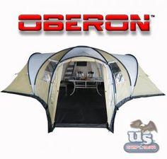 Oberon 26' X 22' x 7' ~ 9-15 Person X-Large Camping Tent Villa w/ Bonuses!