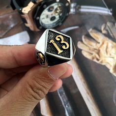 316L Stainless Steel Silver Biker 13 Ring Mens Motorcycle Biker Party Ring Band Party Polishing Silver Biker Men Cool Rings Like it?Visit us: www.jeujewelry.co... #shop #beauty #Woman's fashion #Products #homemade