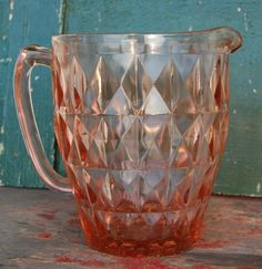 Pink+Depression+Windsor+Style+Glass+Water+by+ValsVintageShoppe,+$40.00