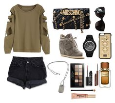 swag by missellyot on Polyvore featuring polyvore, fashion, style, Levi's, Ash, Moschino, adidas, Tiffany & Co., Dolce&Gabbana, Chanel, Maybelline, Too Faced Cosmetics, NARS Cosmetics, MAC Cosmetics and clothing