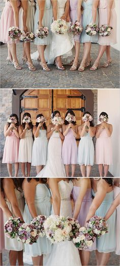 I do not want my wedding to look like easter, but my goodness I love pastels! I especially love the style of dresses.