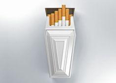 Una campaña de publicidad fuerte utiliza estrategias de diseño llamativas para atrae la atención de toda una audiencia. Uno de los tipos de campañas de publicidad que lo logra totalmente son las de anti-tabaco. Estas campañas son diseñadas para causar un alto impacto visual, transmiten un mensaje que llega a todo el mundo y, al ojo y memoria de los consumidores suelen ser memorables. Cool Packaging, Packaging Design, Product Packaging, Anti Tabaco, Anti Smoking Poster, Still Life Drawing, Cigarette Box, Guerilla Marketing, How To Attract Customers