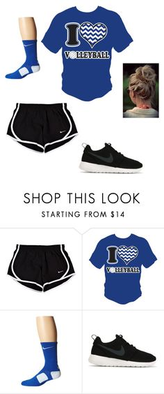 """workout outfit"" by carolinaheel ❤ liked on Polyvore featuring NIKE"